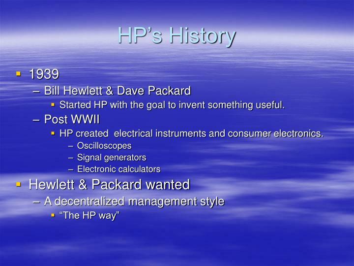 HP's History
