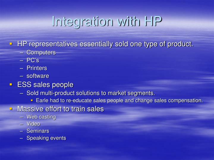 Integration with HP