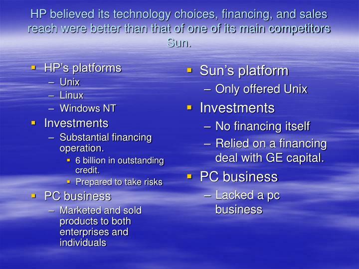 HP's platforms