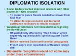 diplomatic isolation