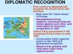 diplomatic recognition