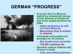 german progress