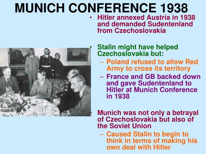 MUNICH CONFERENCE 1938