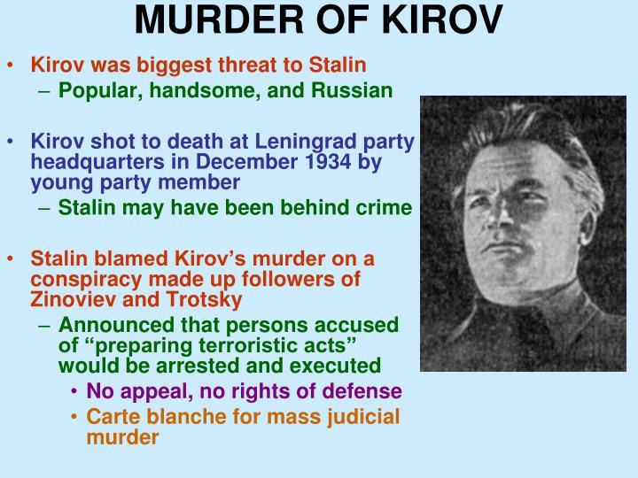 MURDER OF KIROV
