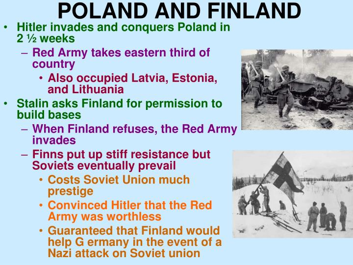 POLAND AND FINLAND