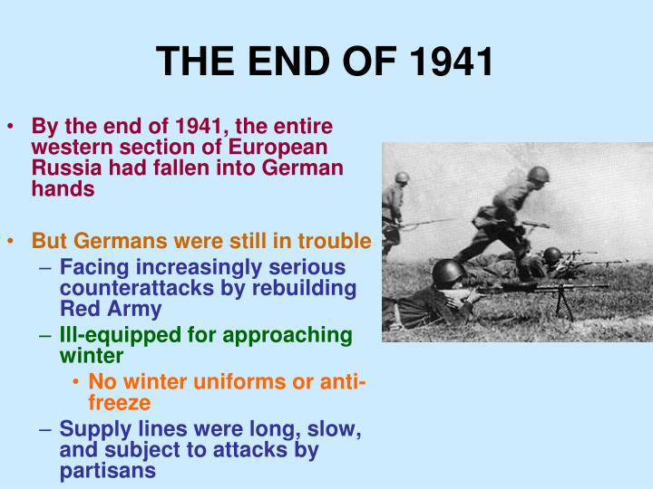 THE END OF 1941