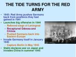 the tide turns for the red army