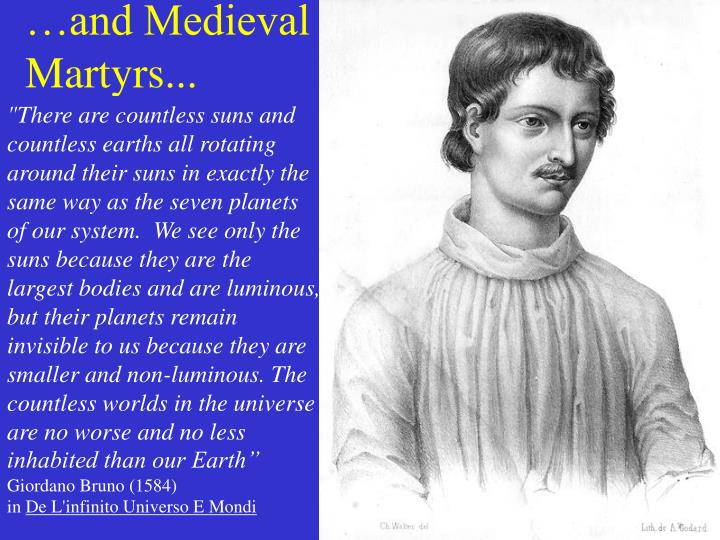 …and Medieval Martyrs...
