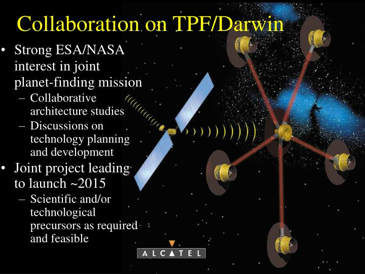 Collaboration on TPF/Darwin