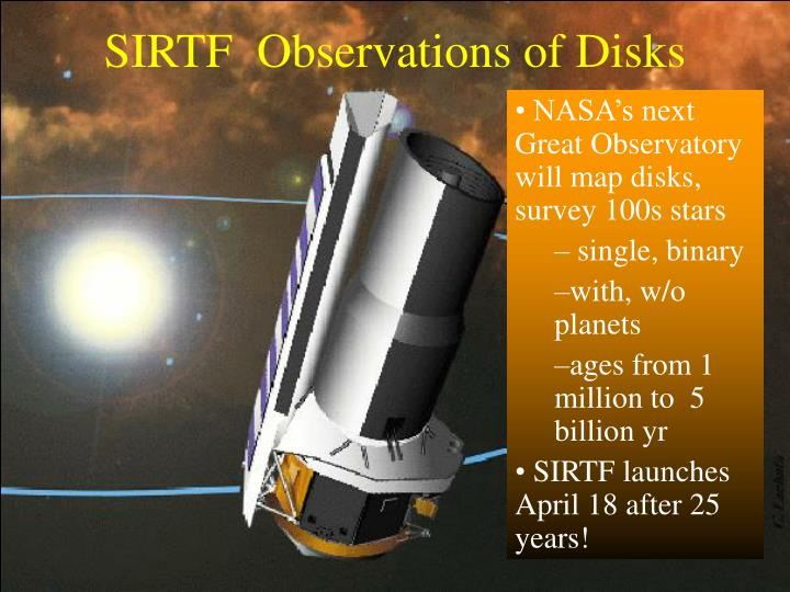 SIRTF  Observations of Disks