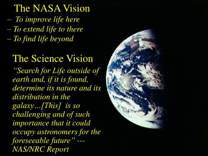 The NASA Vision