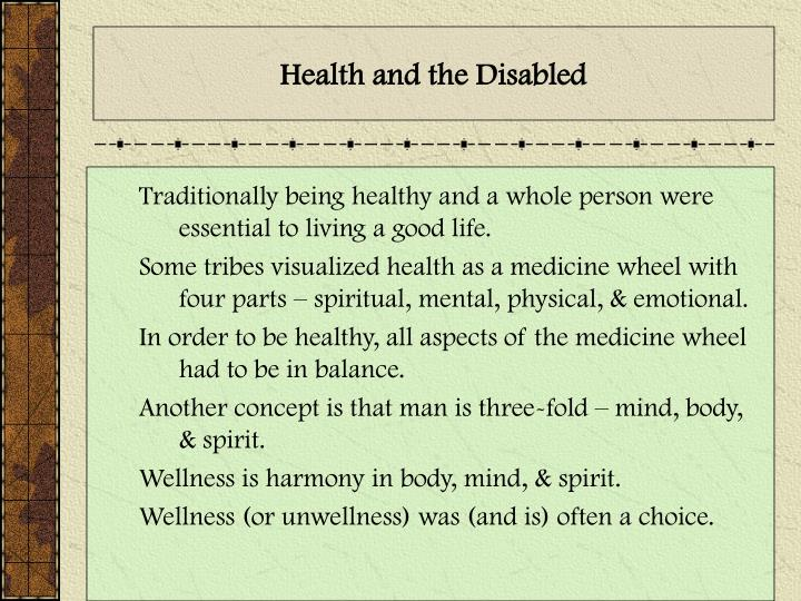 Health and the Disabled