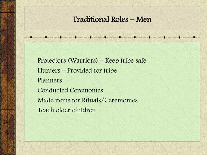 Traditional Roles – Men