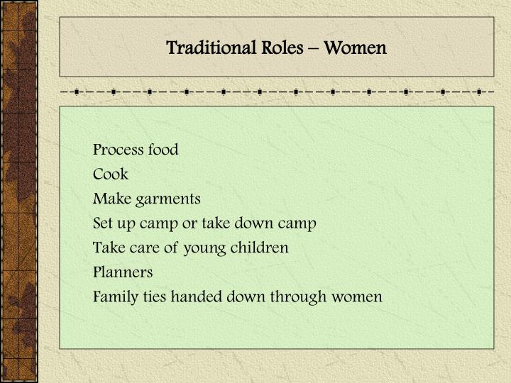 Traditional Roles – Women