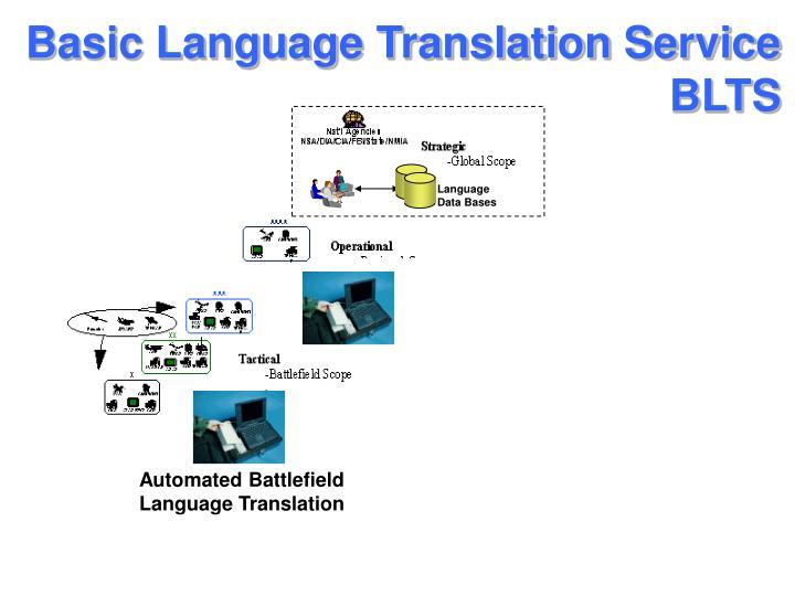 Basic Language Translation Service