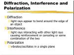 diffraction interference and polarization