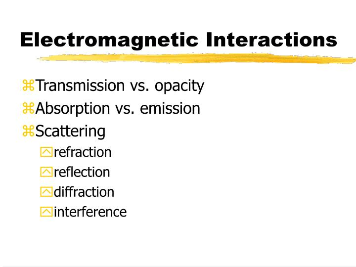 Electromagnetic Interactions