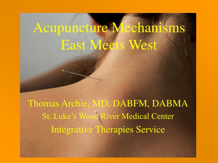 Acupuncture Mechanisms