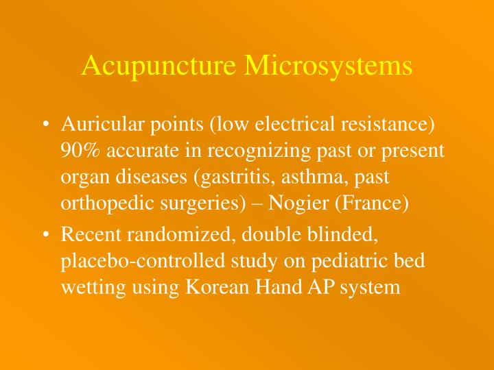 Acupuncture Microsystems