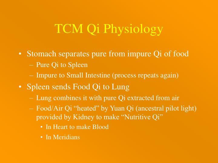 TCM Qi Physiology