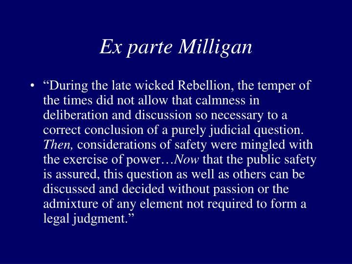 Ex parte Milligan