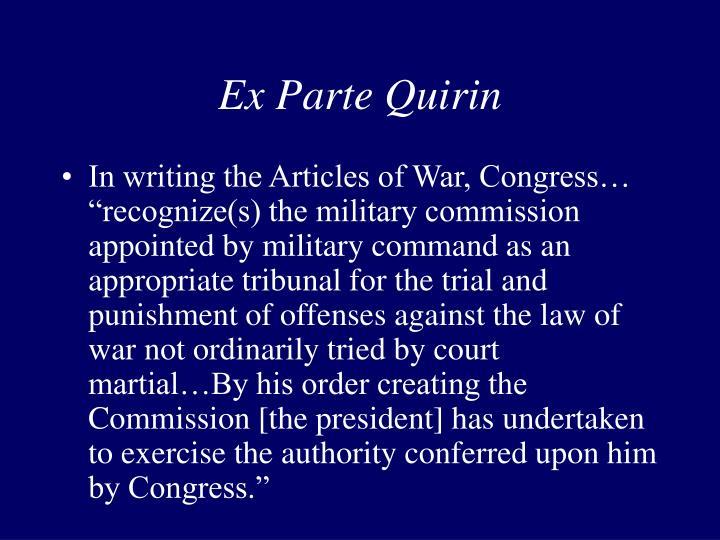 Ex Parte Quirin