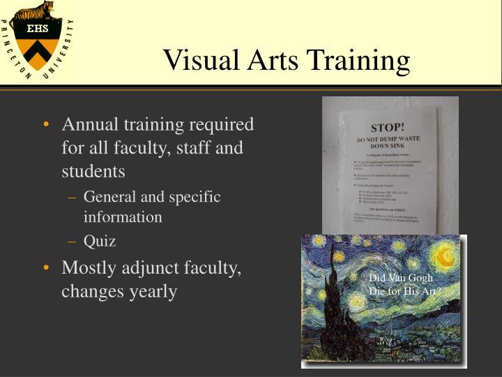 Visual Arts Training