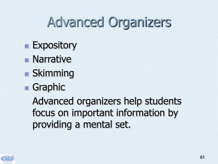 Advanced Organizers