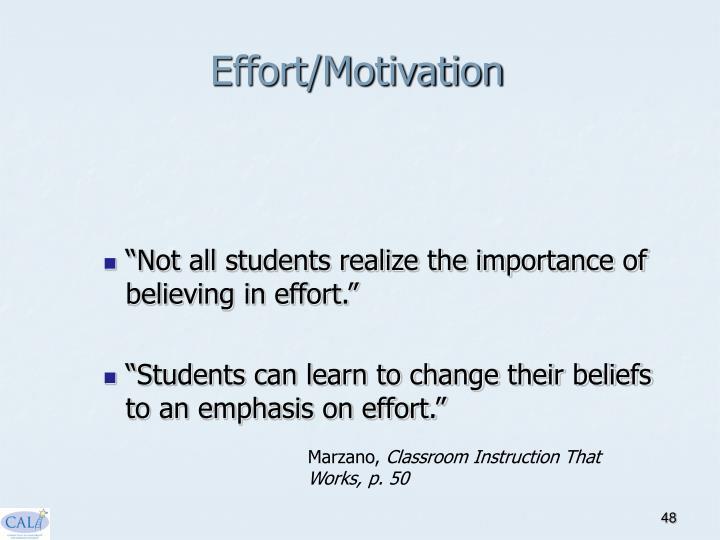 Effort/Motivation