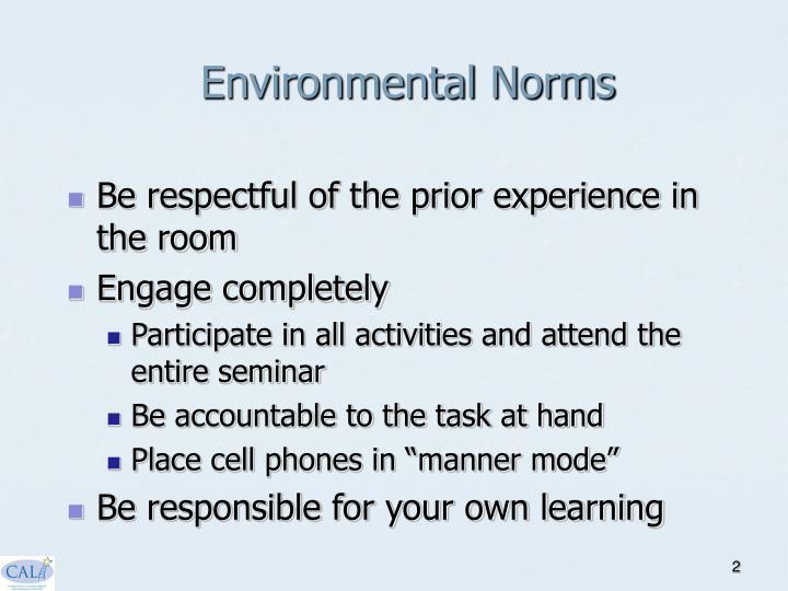 Environmental Norms