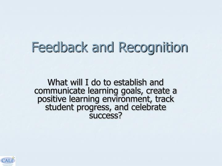 Feedback and Recognition