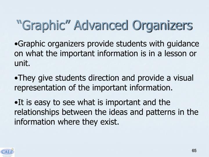 """""""Graphic"""" Advanced Organizers"""