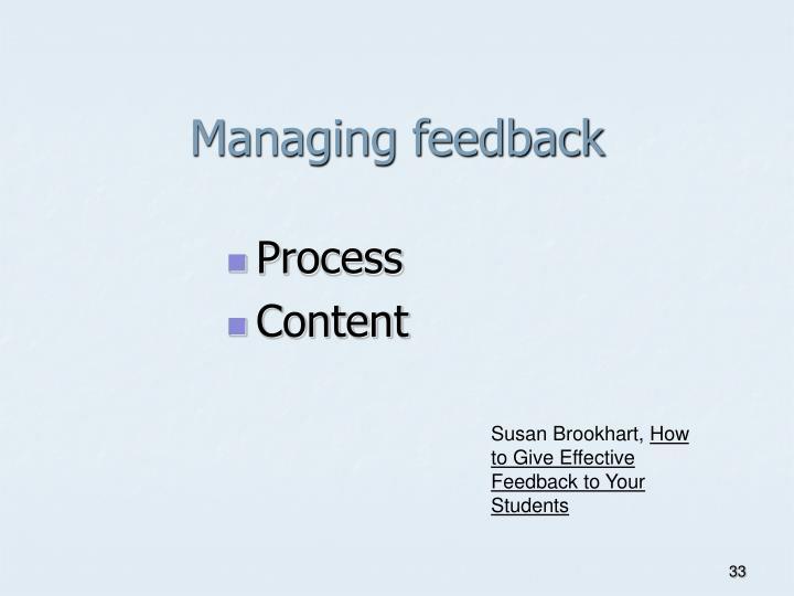 Managing feedback