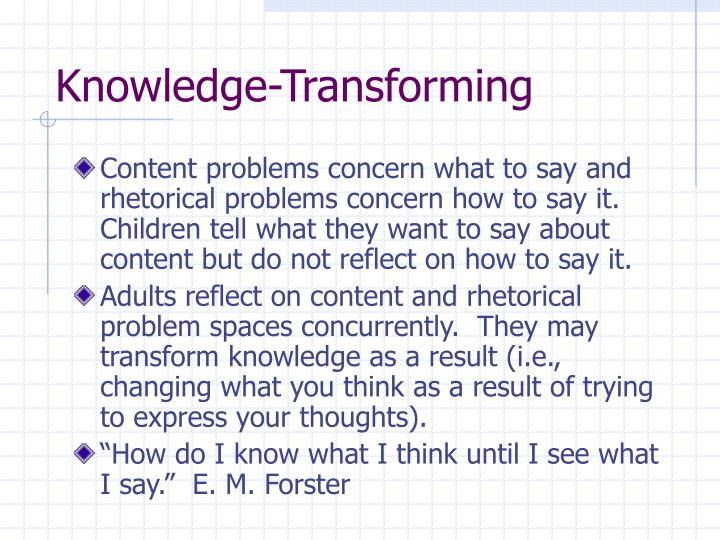 Knowledge-Transforming