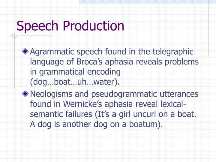 Speech Production