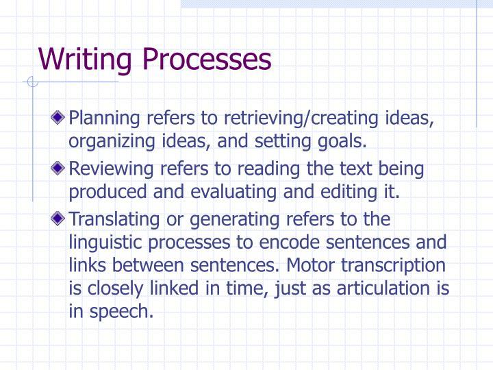 Writing Processes