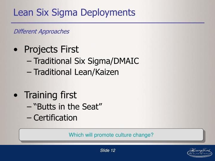 Lean Six Sigma Deployments