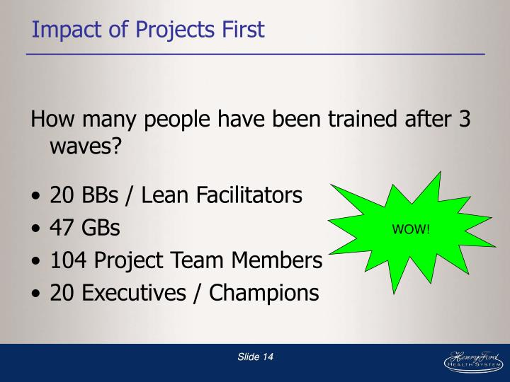 Impact of Projects First