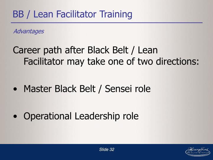 BB / Lean Facilitator Training