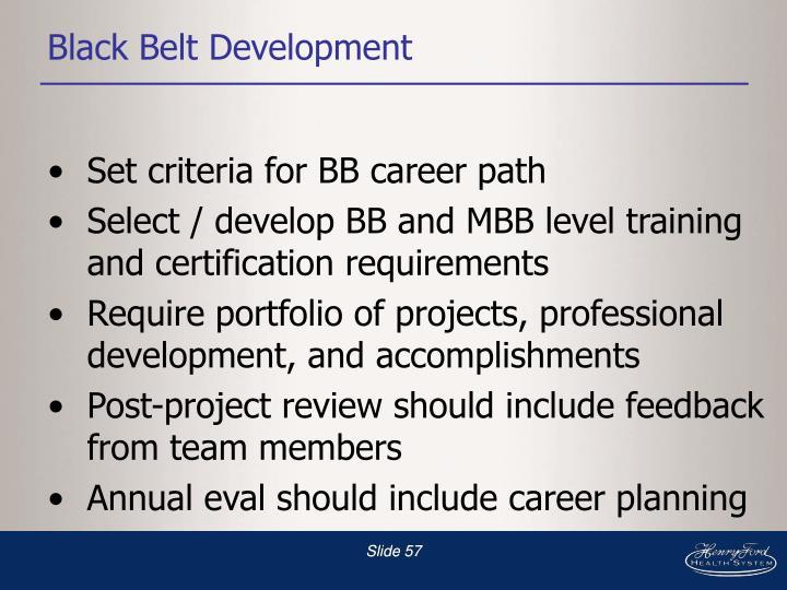 Black Belt Development
