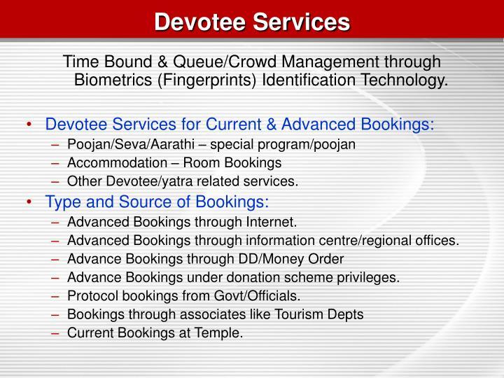 Devotee Services