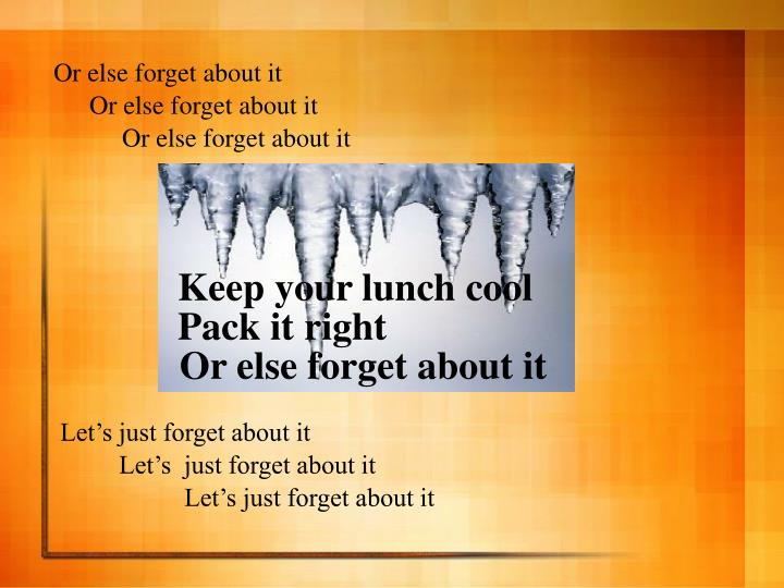 Keep your lunch cool