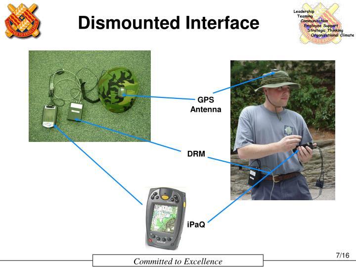 Dismounted Interface