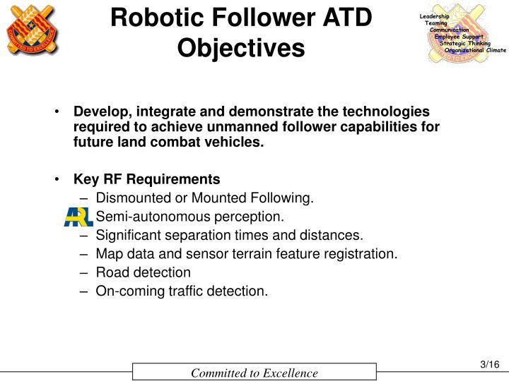 Robotic Follower ATD