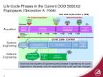 life cycle phases in the current dod 5000 02 framework december 8 2008