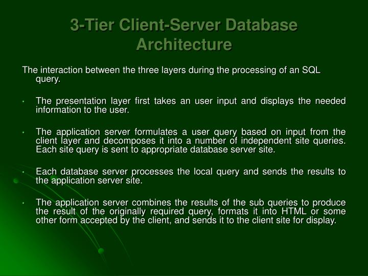 3-Tier Client-Server Database Architecture
