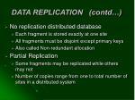 data replication contd