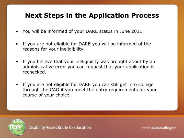 Next Steps in the Application Process