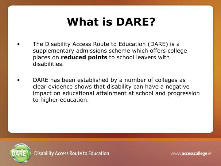 What is DARE?