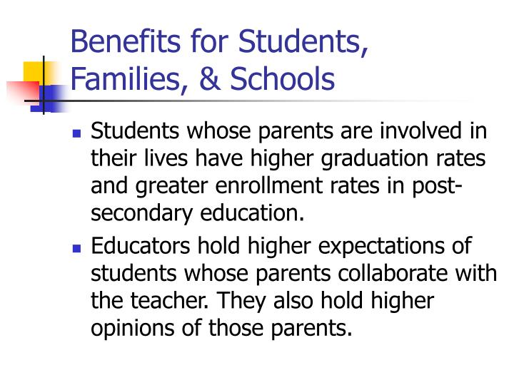 Benefits for Students, Families, & Schools
